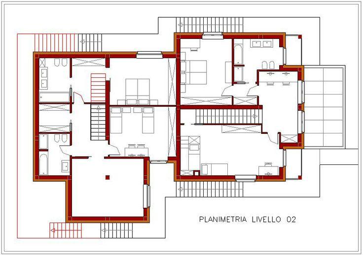 planimetria livello 02 progetto preliminare di un
