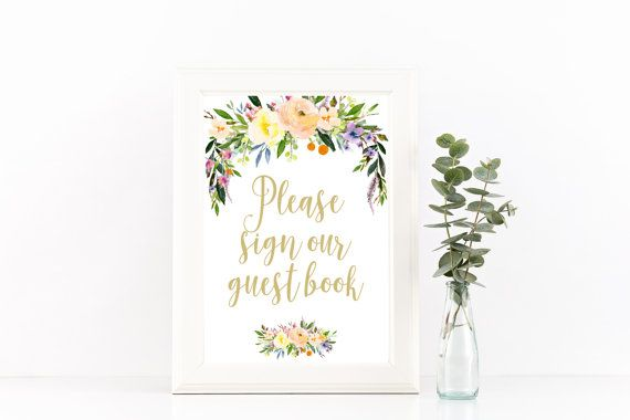 wedding guest book sign wedding guestbook sign by Papierscharmants