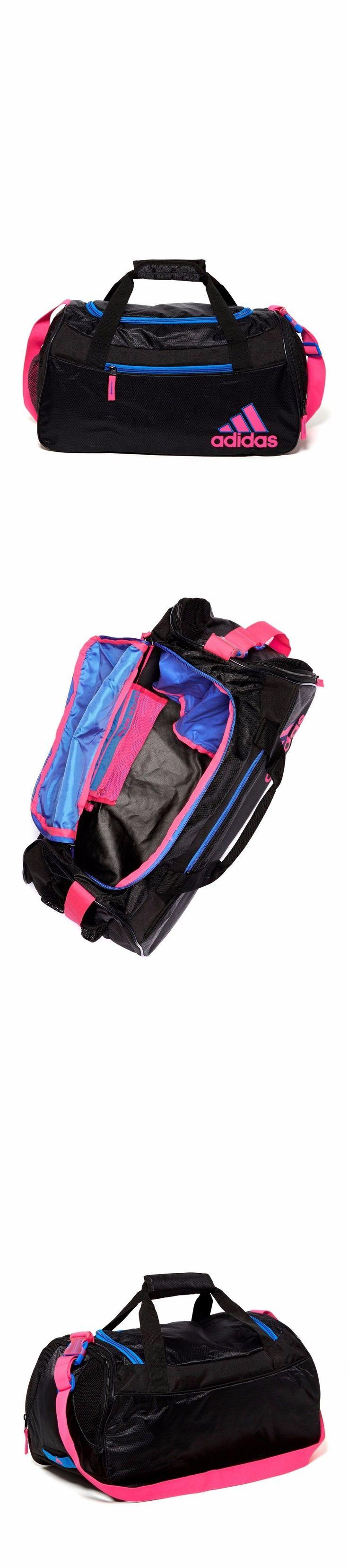 Gym Bags 68816: Adidas Squad Ii Duffel Women Gym Bag Black/Flash Pink Aqua BUY IT NOW ONLY: $39.95
