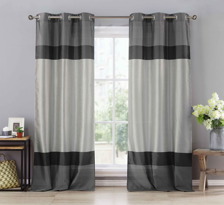 25 best ideas about black and silver curtains on. Black Bedroom Furniture Sets. Home Design Ideas