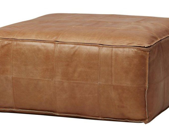 Large Suquare Moroccan Pouffe Pouf Footrest Cover Xl Extra Etsy Leather Ottoman Leather Ottoman Coffee Table Pouf Ottoman