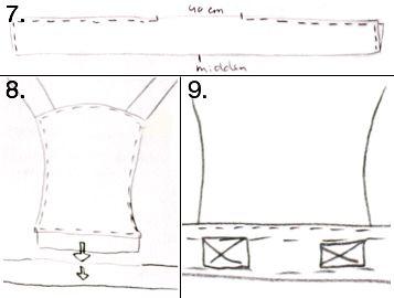 zo heb ik de mijne ook gemaakt, ongeveer! Zelf een Mei-Tai draagdoek maken | Kiind Magazine