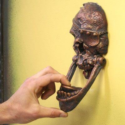 Arrrrr! I be needin' this Skull Door Knocker for me cabin! ;)