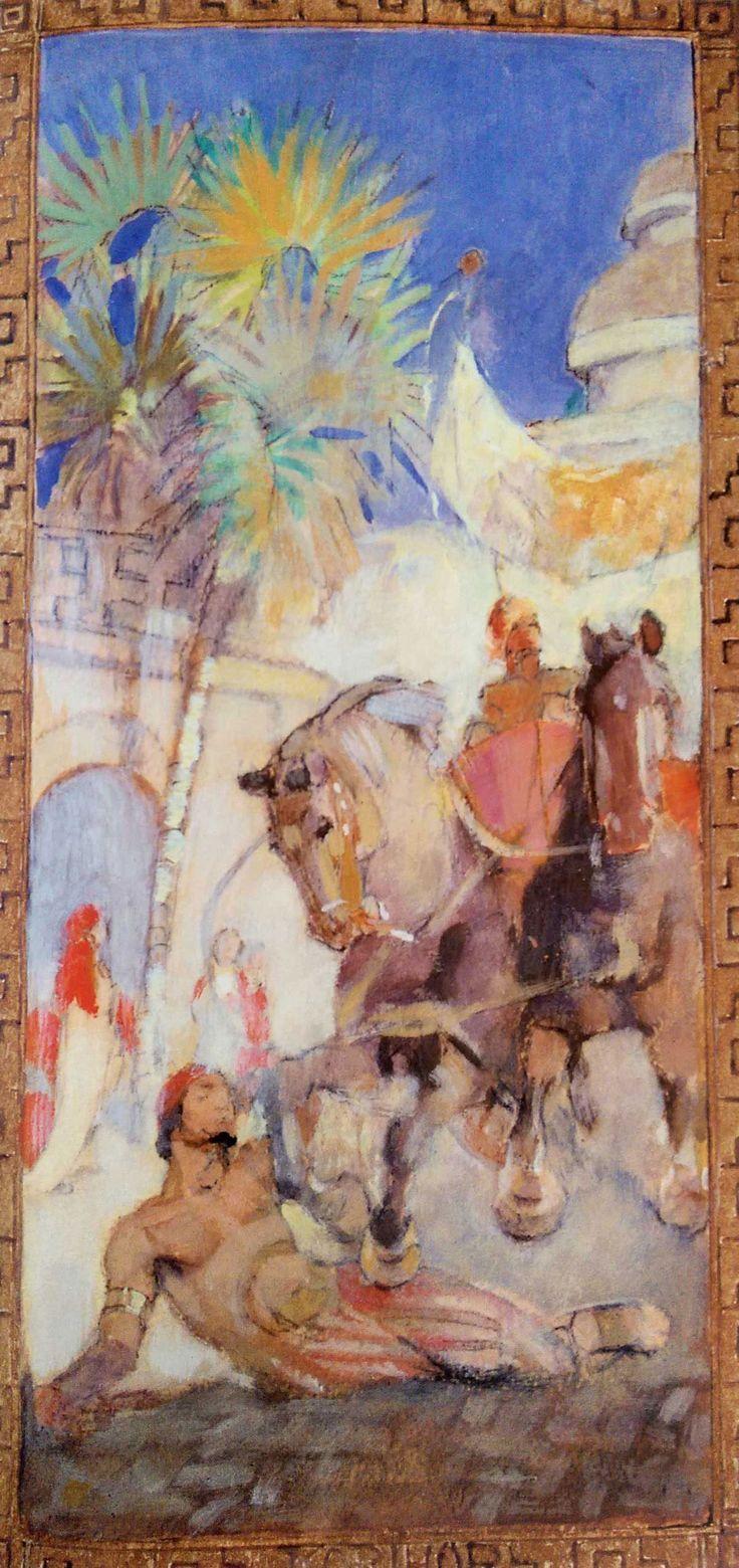 The Death of Korihor by Minerva Teichert