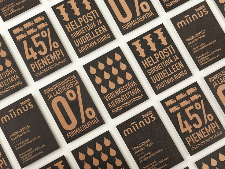 Uncoated paper business card design for Miinus by Bond