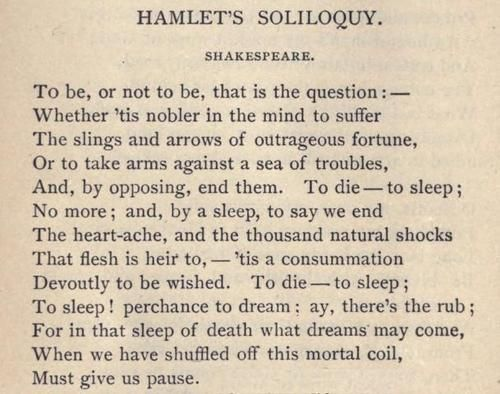 How many soliloquies are there in Hamlet?