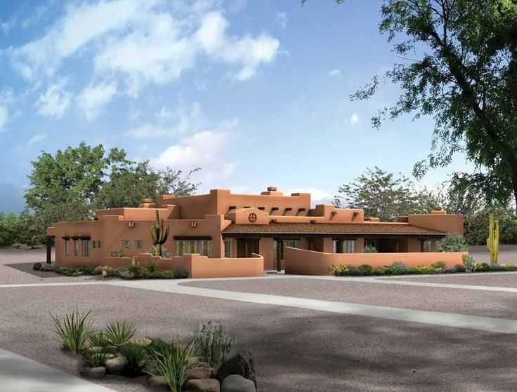 Adobe House Plan With 3838 Square Feet And 4 Bedrooms From Dream Home  Source | House Part 77