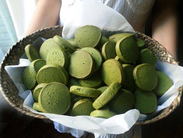 Galletas de té verde Matcha