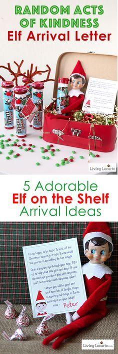 Creative Elf on the Shelf Arrival Ideas! Unique printables and cute ideas direct…
