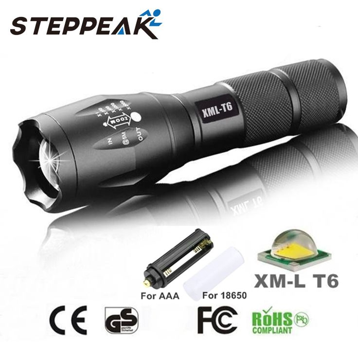 Hot Sale E17 CREE XM-L T6 LED 3800 Lumens Outdoors Led Torch LED Flashlight  For Camping Torch Light Zoomable Focus SD001C #clothing,#shoes,#jewelry,#women,#men,#hats,#watches,#belts,#fashion,#style