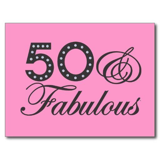 cool 50th birthday sayings | 50 & Fabulous Gift Postcard