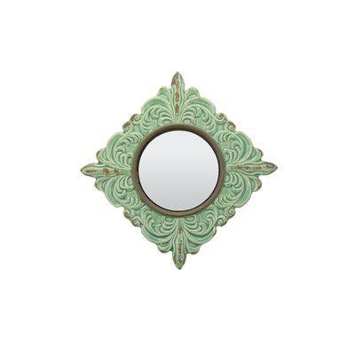 CKK Home Décor, LP Parisian Worn Ceramic Distressed Wall Mirror