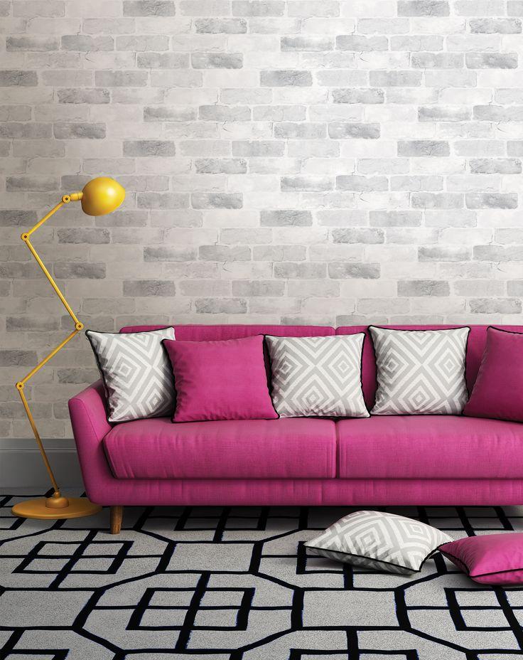 Reclaimed Brick Wallpaper