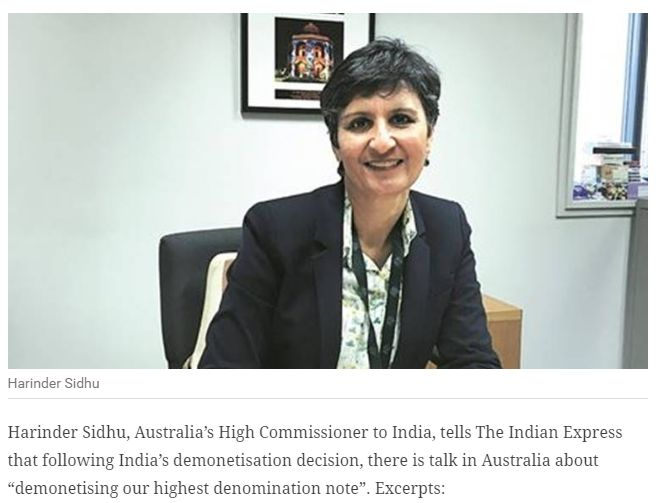 """India has inspired Australia to act on black money, may demonetise: Australian envoy """"We are watching India closely to see if we can learn something from this process. Get Narendra Modi's & BJP's latest news and updates with - http://nm4.in/dnldapp http://www.narendramodi.in/downloadapp. Download Now."""""""