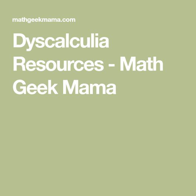 Dyscalculia Resources - Math Geek Mama
