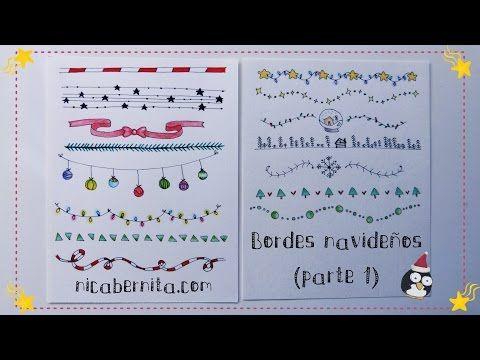 MÁRGENES para cuadernos y BORDES para cartas. Nuevas ideas para decorar apuntes (Nica Bernita) - YouTube
