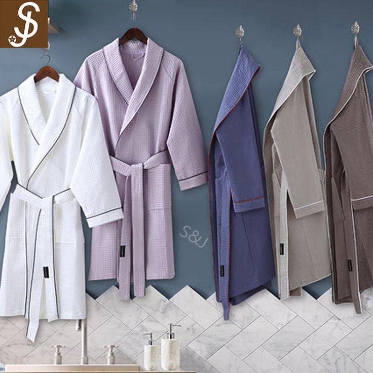 S&J specialty high quality comfortable 100% cotton bathrobe for men