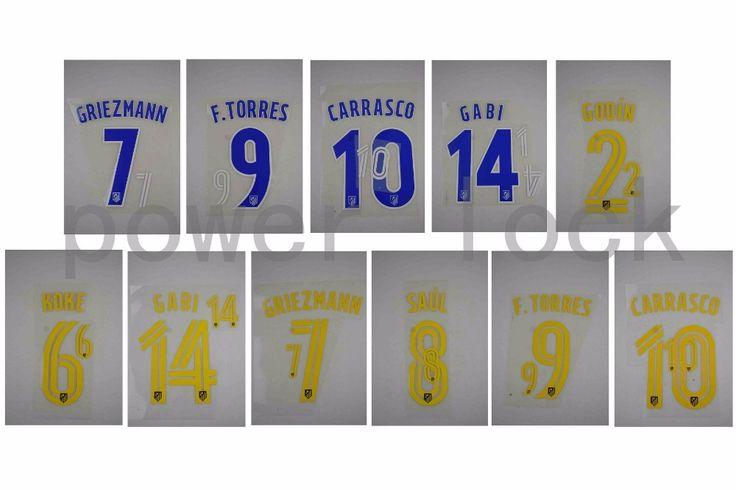 [Power lock]16-17 La Liga Home/Away #7 GRIEZMANN #9 F.TORRES #10 CARRASCO  #2 GODIN #6 KOKE #8 SAUL  heat transfer [FT0074]