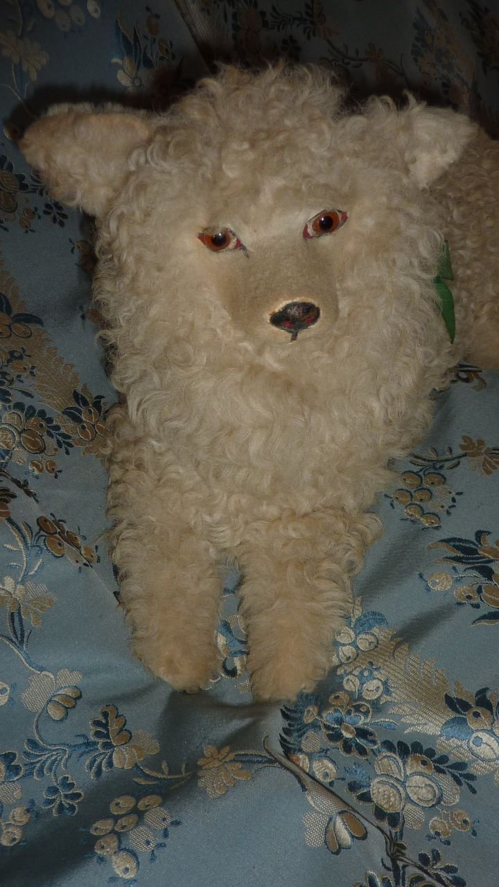 Quot Loulou Quot Vintage Cream Real Fur Pajama Dog Sold By French