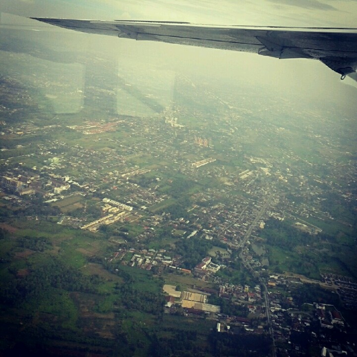 view of Medan City taken from airplane #Sumatera #Indonesia
