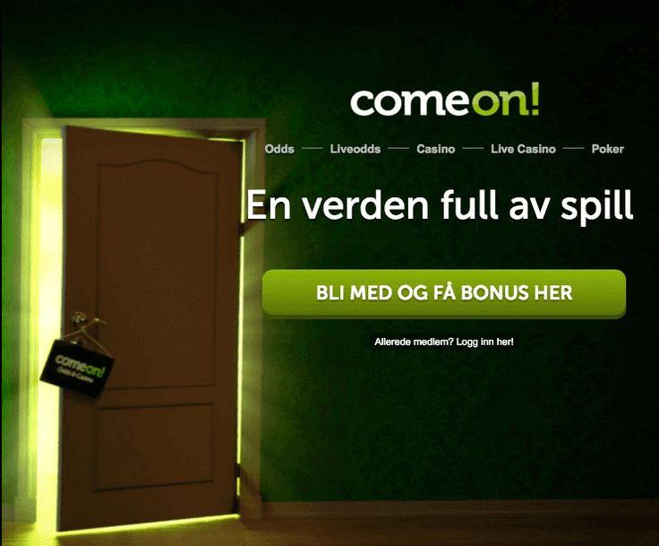 Vår referansekode MAXIMUMBONUS på ComeOn odds gir deg 400% på første innskudd, samt 50kr gratis på jackpot6000.