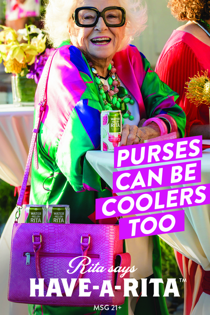 Purses can be coolers too, which is cool if you're at a fancy summer party and prefer good flavor over good taste. But also know fashion. #HAVEARITA #Mix #Cool #Frozen #Simple