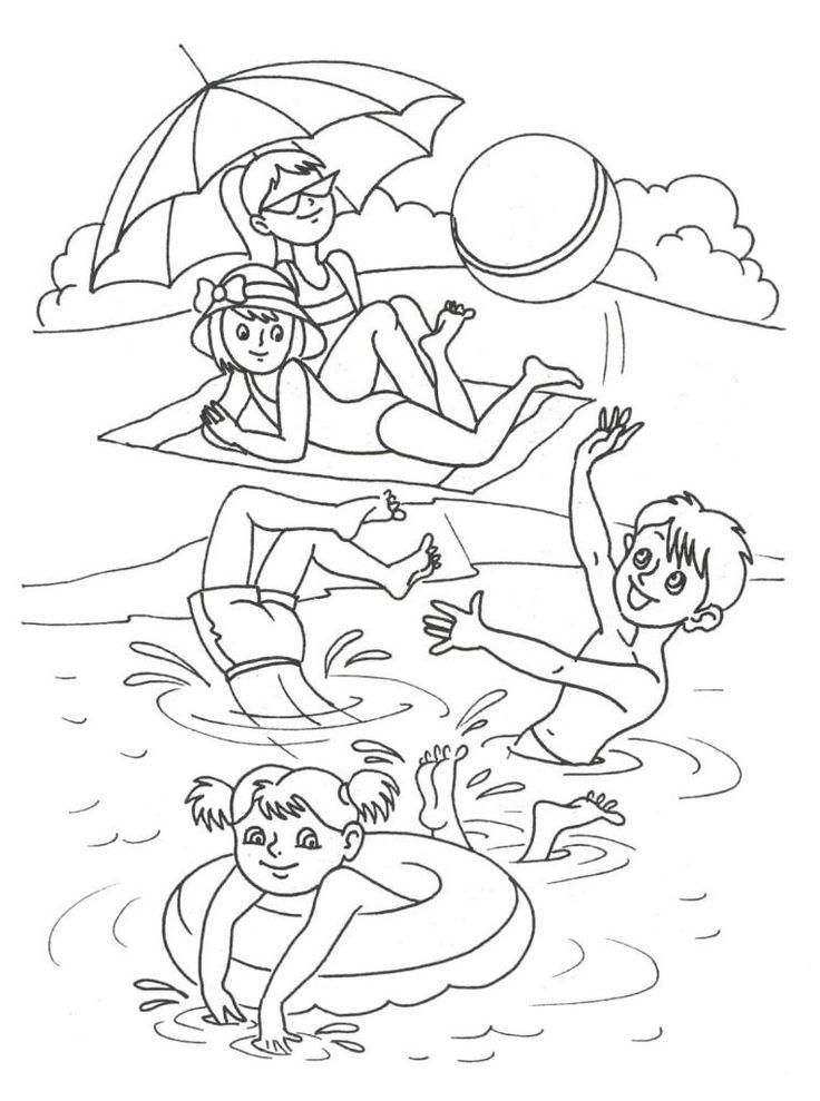 Ausmalbilder Sommer Lustige Für Kinder   Summer coloring ...