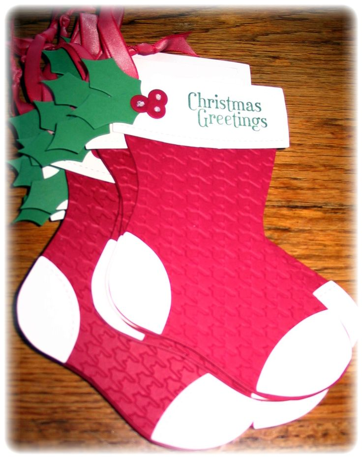 Great Christmas stocking project using a die cut machine.
