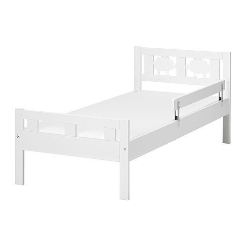KRITTER Bed frame with slatted bed base IKEA The guardrail prevents your child from falling out of the bed Slatted bed base for good air circulation.