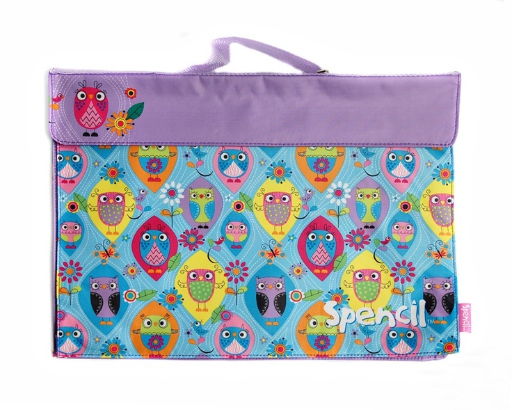 Library Book Bag - Happy Owls