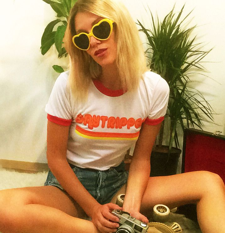 """Now online! 1970's inspired """"Daytripper"""" Ringer Tee. Available in sizes xs- large. grab yours now #electricwest"""
