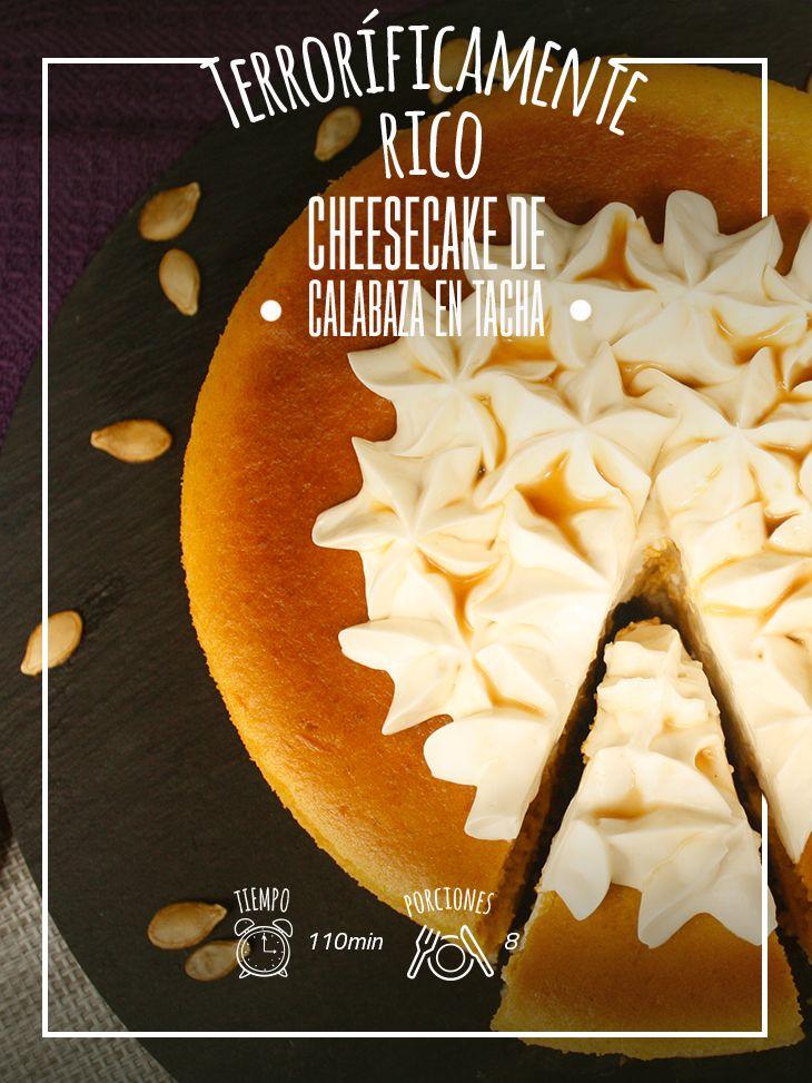 Un postre que puedes compartirlo cualquier época del año: Cheesecake de calabaza en tacha.