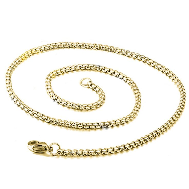 Fashion Pendant Mens Gold Chain 316L Stainless Steel Necklace