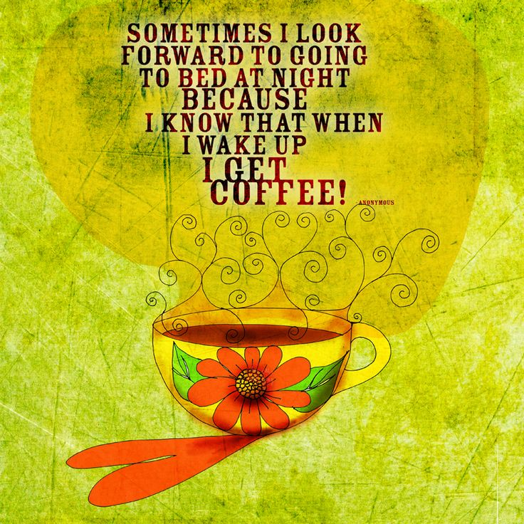 "Coffee is magical, an eye opener, a battery recharger, an elixir to start your day. This quote totally speaks to many coffee lovers, ""Sometimes I look forward to going to bed at night because I know that when I wake up I GET COFFEE.""   What my #Coffee  says to me April 17, make your day blossom drink your caffeinated elixir and celebrate YOUR life! Cheers. Plus this post if you agree :)    (What my Coffee says to me is a daily, illustrated series created by +Jennifer R. Cook )"