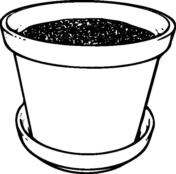 Flower Pot Coloring Page New Flowerpot With Soil Clip Art At Clker Vector Clip In 2020 Coloring Pages Flower Pots Mom Coloring Pages