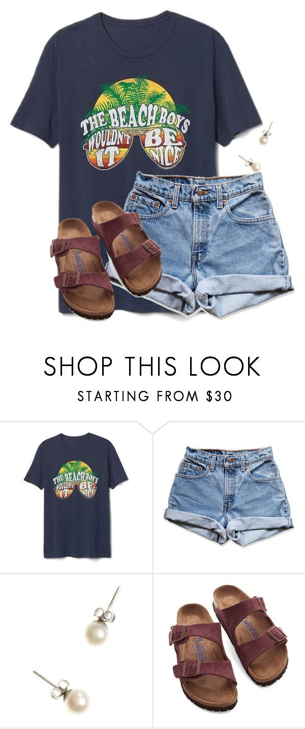 """""""How was your Valentines Day?"""" by flroasburn ❤ liked on Polyvore featuring Gap, Levi's, J.Crew and Birkenstock"""