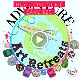 The Polymer Clay Adventure Retreat 2016 and ALL other retreats are now on sale for $80 for 1 week ONLY starting at today and ending May 7. This is the perfect deal for a Mothers Day present ( or maybe to gft yourself!). There are many classes that have been releaset already, and there are many more to come until December 2016! Why dont you join all of us? We are having so much fun over here. More information and sign in here: http://bit.ly/ankehumpert2016