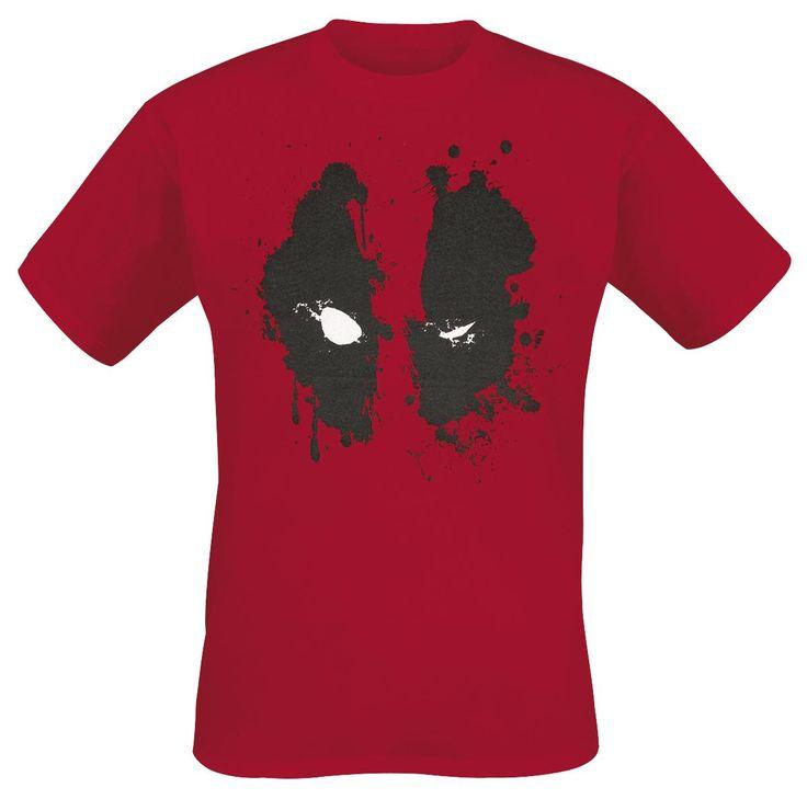 Comparez et achetez le produit geek Deadpool Face T-shirt rouge de la catégorie Habillement & cosplay au prix de 19,99 EUR sur Spoogeek France.