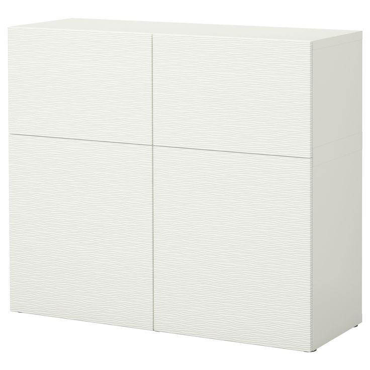 BESTÅ Storage combination with doors - white/Tofta high-gloss/white - IKEA