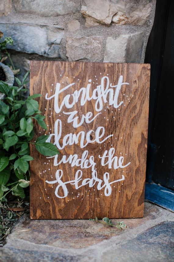Perfect for wedding dance floor sign
