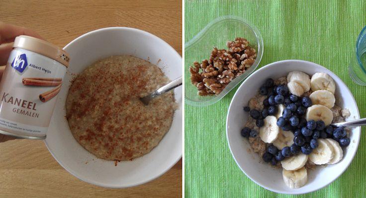 gezond ontbijt afvallen havermout