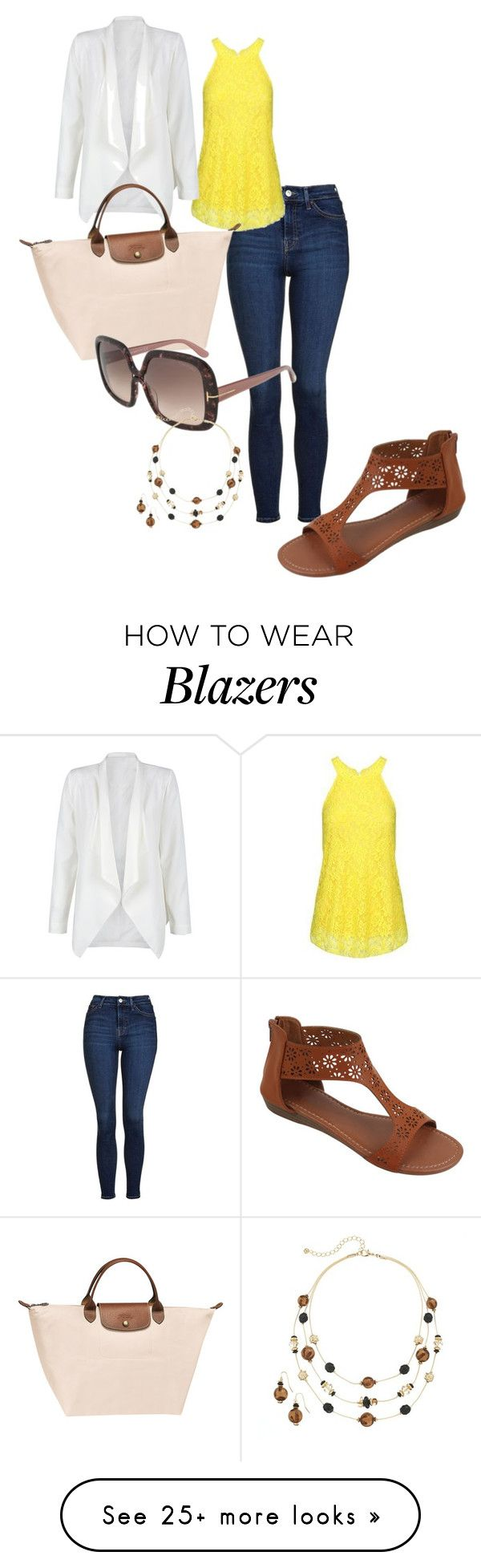 """""""Untitled #40"""" by sibonokuhlemathe on Polyvore featuring Topshop, WithChic, Longchamp, Tom Ford and Croft & Barrow"""