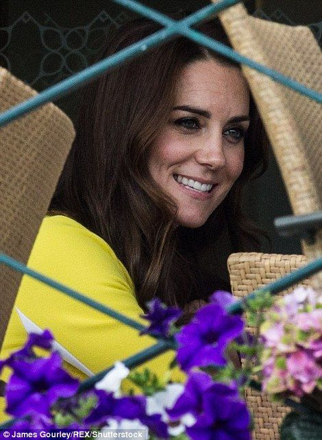 suede coats HRH The Duchess of Cambridge  Kate Middleton  enjoying afternoon tea after watching Venus Williams play Angelique Kerber during day eleven of the 2016 Wimbledon Championships