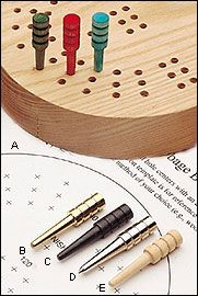 Cribbage Board Template and Pegs - Woodworking $1.30-$.16 per peg