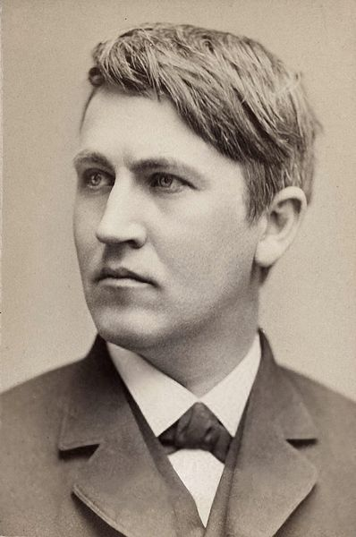 Young Thomas Edison. Born in Milan Ohio; homeschooler and inventing genius.