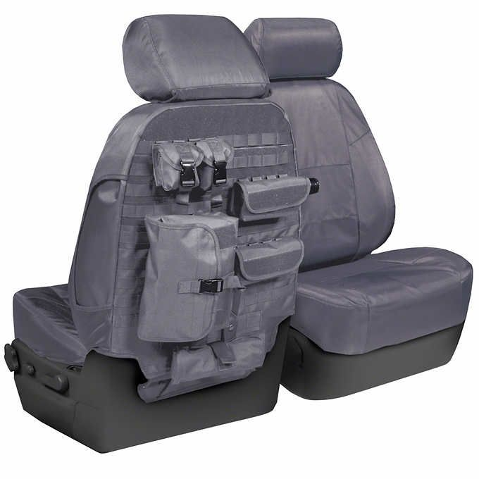 Coverking 1 Row Tactical Seat Cover Black & Charcoal