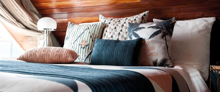 Knit cotton cushions in different sizes, Jacquards and Ajours