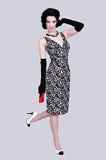 Bettie Page Tatyana 'Leaves' Dress Pinup Cheesecake Vintage Retro Wiggle Sz 4XL