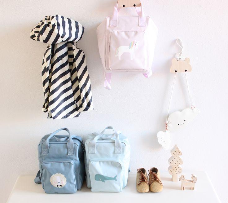 New backpack collection arrived today! Shop now online! #design #scandinavian #kids #eeflillemor #rillagorilla #kidsbackpack #boys #girls #shopnow #newcollection #lion #whale #unicorn #backpack #rugzak #eeflillemor