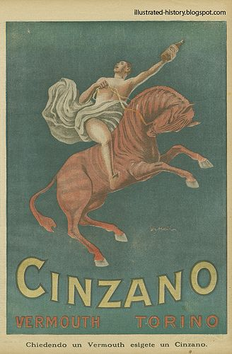 Pubblicità CINZANO 1922  #TuscanyAgriturismoGiratola